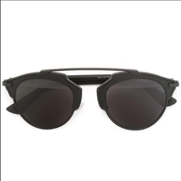 18f276f82c47 Dior Accessories | So Real Matte Black Sunglasses | Poshmark